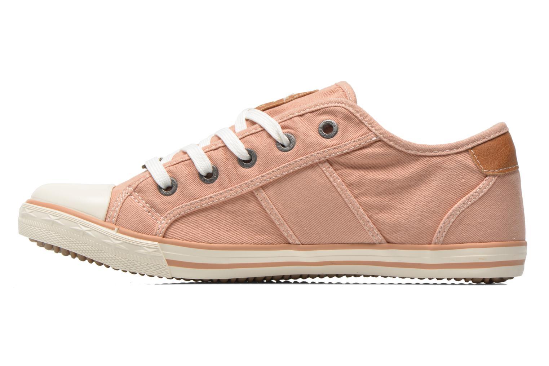 Baskets Mustang shoes Pitaya Orange vue face