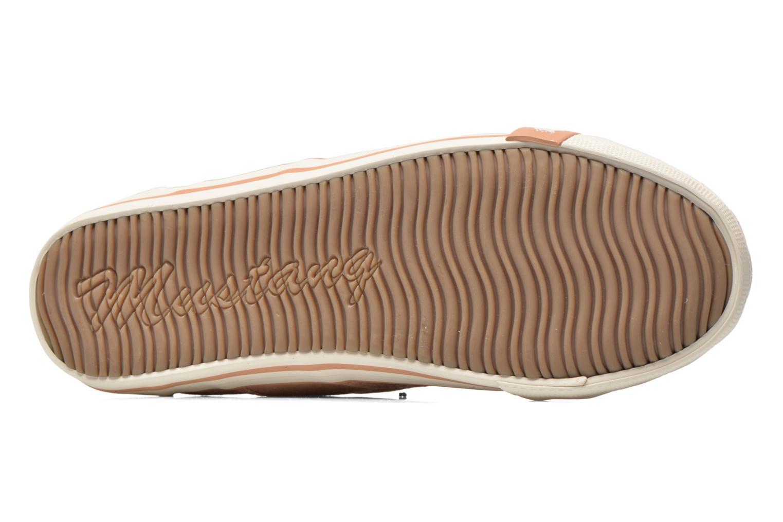 Baskets Mustang shoes Pitaya Orange vue haut