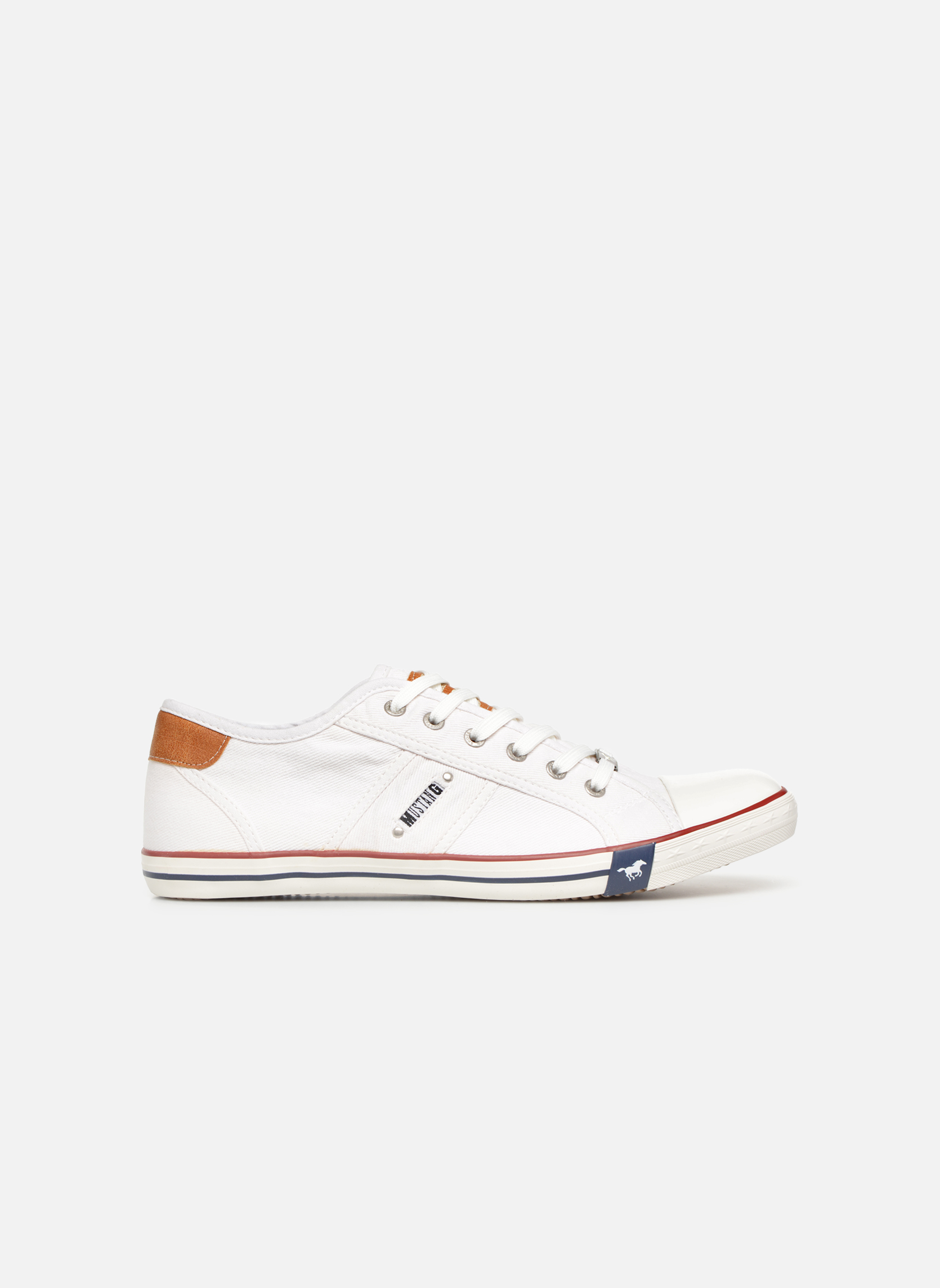 Sneakers Mustang shoes Tista Wit achterkant