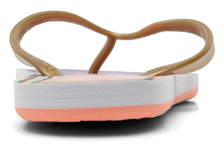 Slippers Roxy Tahiti V Goud en brons rechts