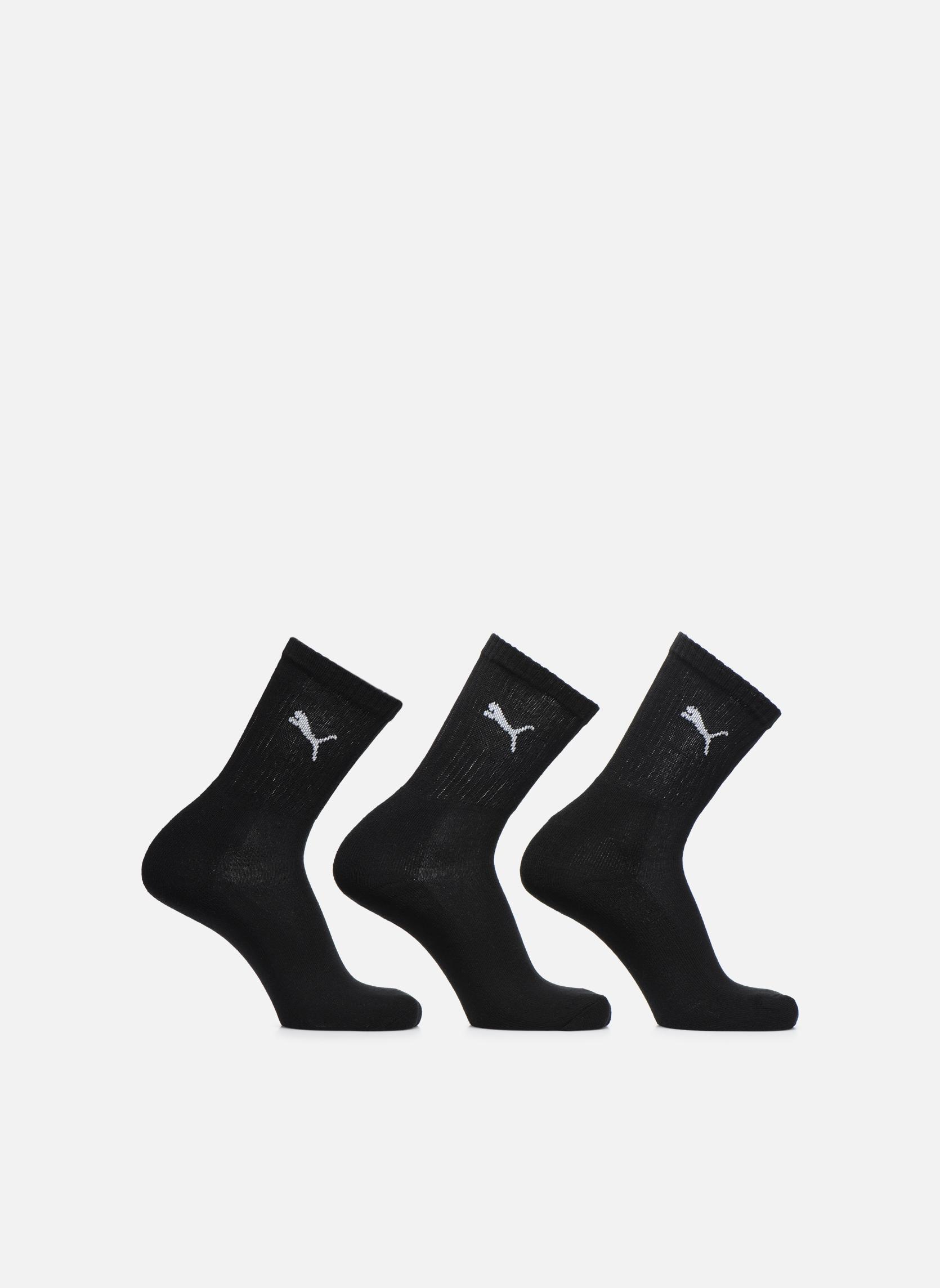 Chaussettes et collants Puma Socks SPORT CREW - LOT DE 3 Noir vue détail/paire