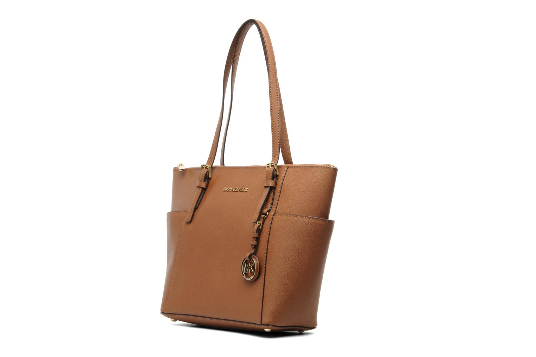 Handbags Michael Michael Kors JET SET EW TZ Tote Brown model view