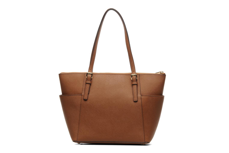 Handbags Michael Michael Kors JET SET EW TZ Tote Brown front view