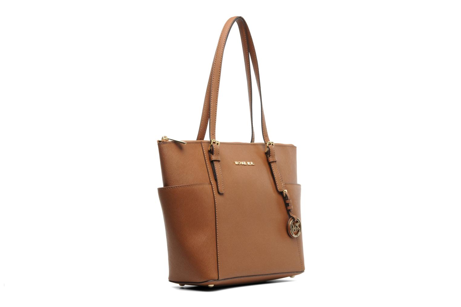 Handbags Michael Michael Kors JET SET EW TZ Tote Brown view from the right
