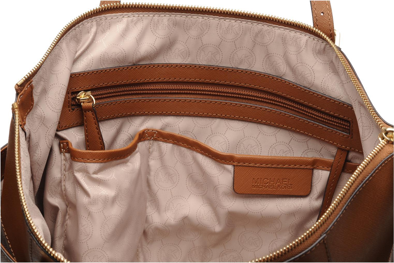 Handbags Michael Michael Kors JET SET EW TZ Tote Brown back view