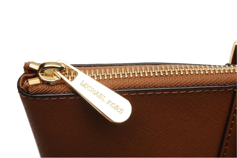 Handtaschen Michael Michael Kors JET SET EW TZ Tote braun ansicht von links