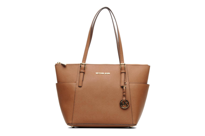 Handbags Michael Michael Kors JET SET EW TZ Tote Brown detailed view/ Pair view