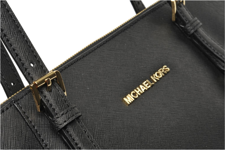 Bolsos de mano Michael Michael Kors JET SET EW TZ Tote Negro vista lateral izquierda