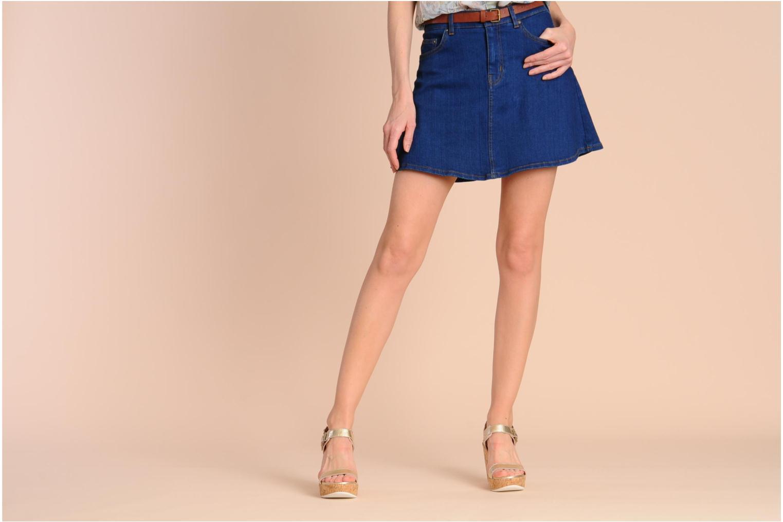 Sandales et nu-pieds Mellow Yellow Polaris Or et bronze vue bas / vue portée sac