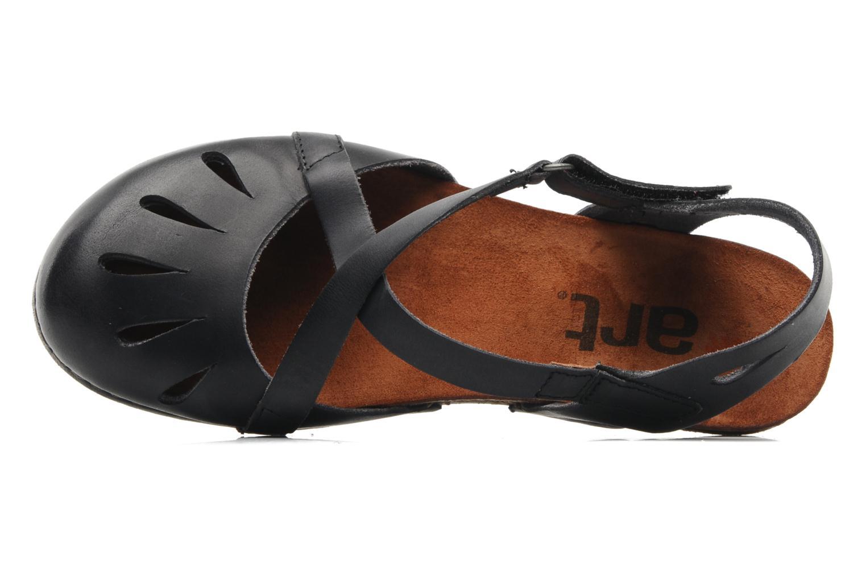 Sandales et nu-pieds Art Creta 449 Noir vue gauche