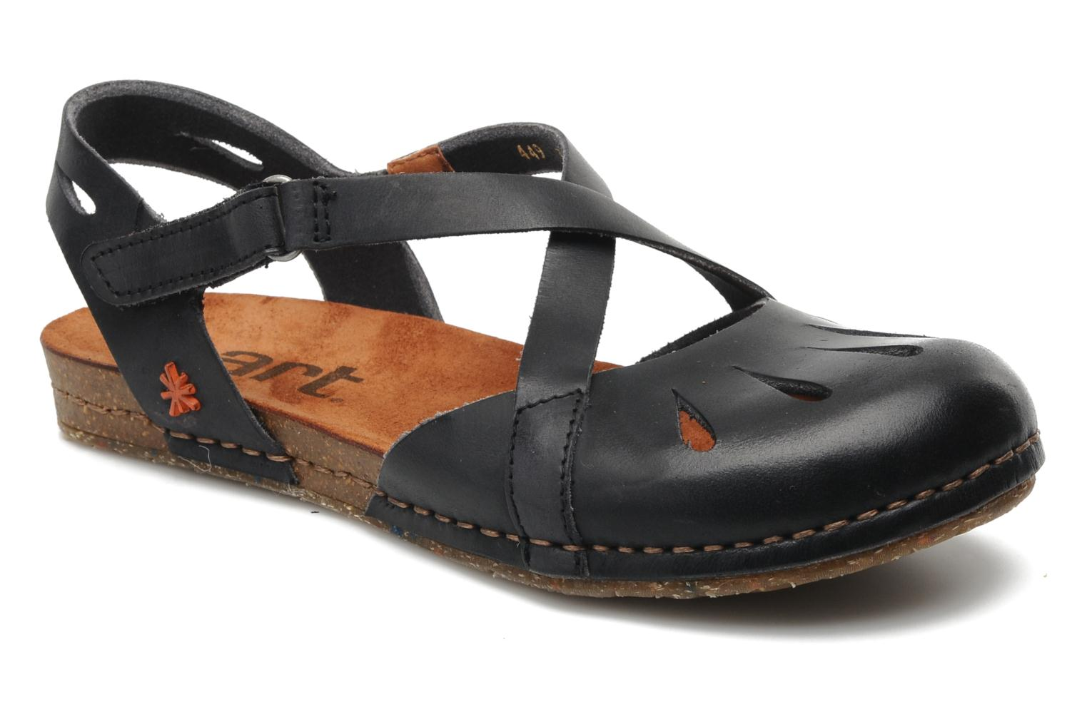 Sandals Art Creta 449 Black detailed view/ Pair view