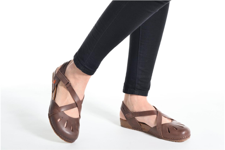 Sandales et nu-pieds Art Creta 449 Violet vue bas / vue portée sac