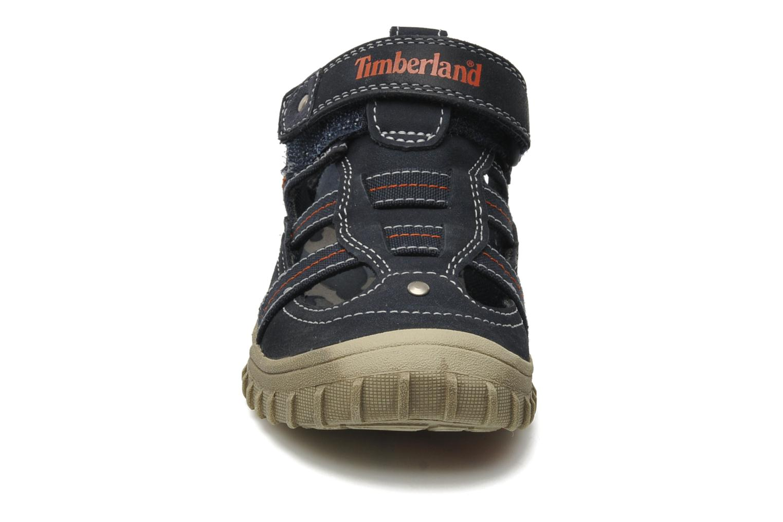 Sneakers Timberland EK Castleton Fisherman Azzurro modello indossato