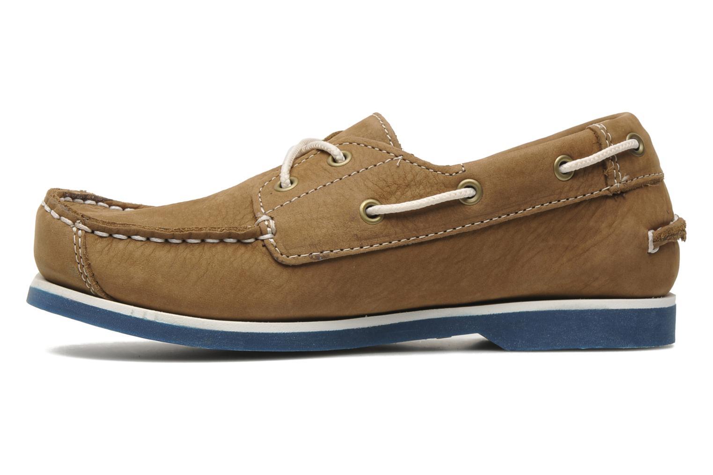 EK Peaks Island 2 Eye Boat Shoe Brown with blue