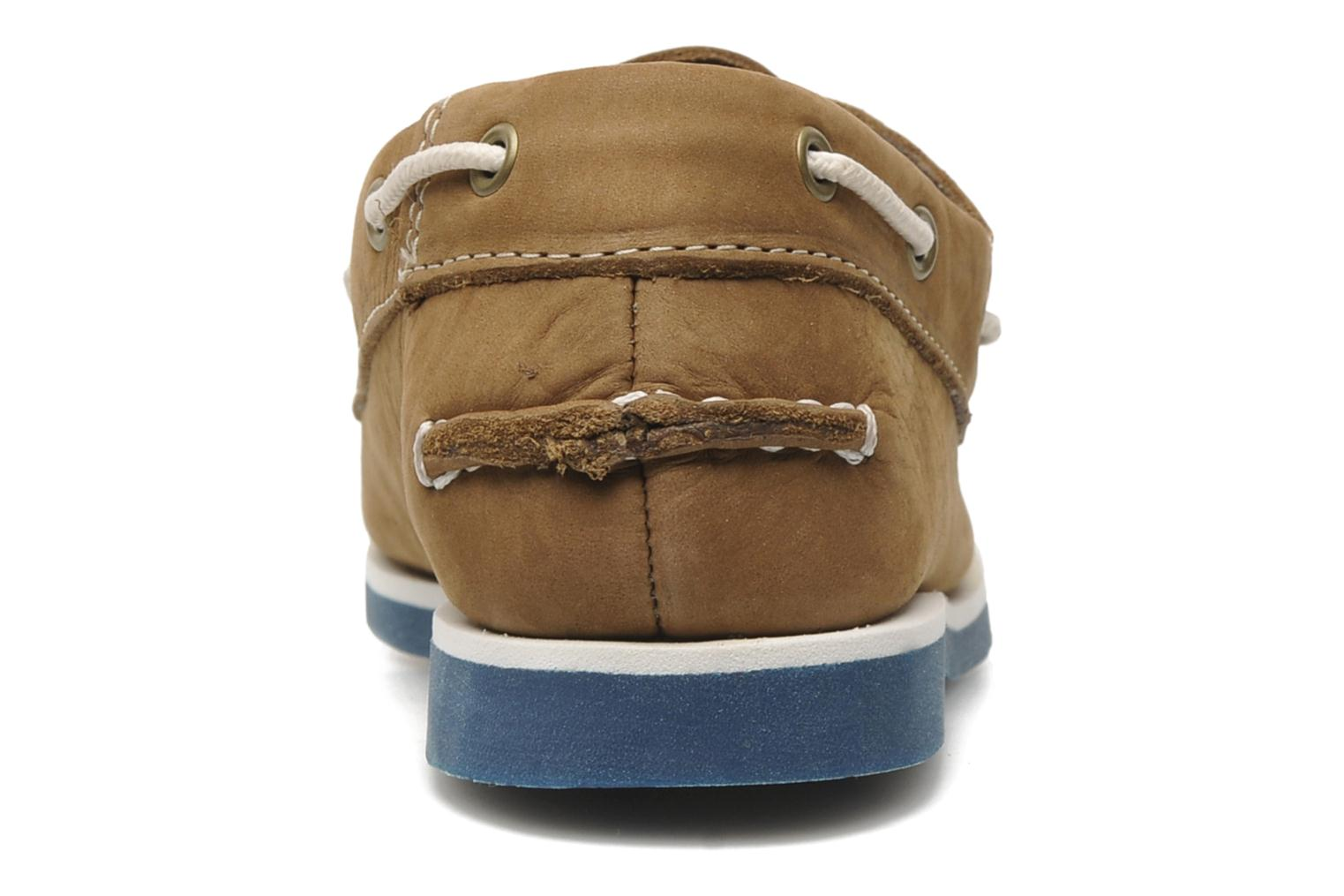 EK Peaks Island 2 Eye Boat Shoe Brown with blue