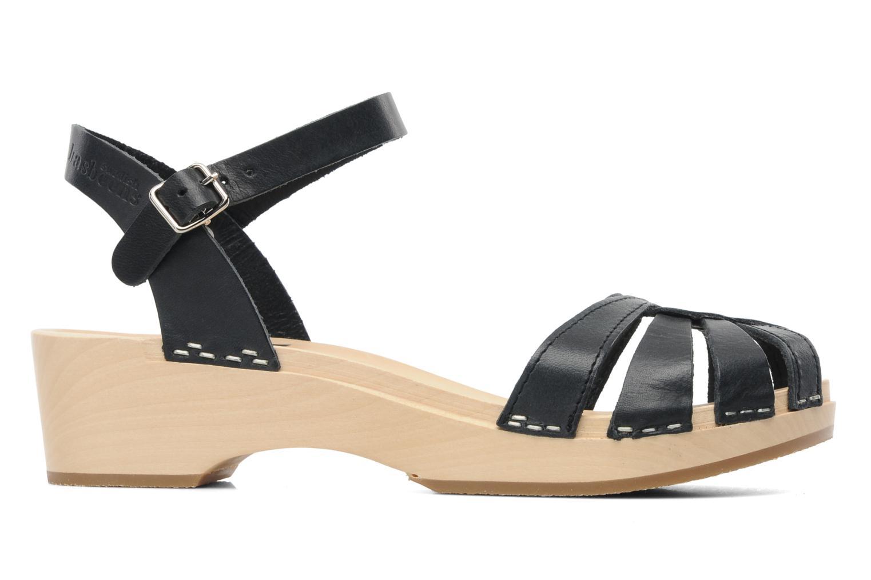 Sandals Swedish Hasbeens Cross Strap Debutant Black back view