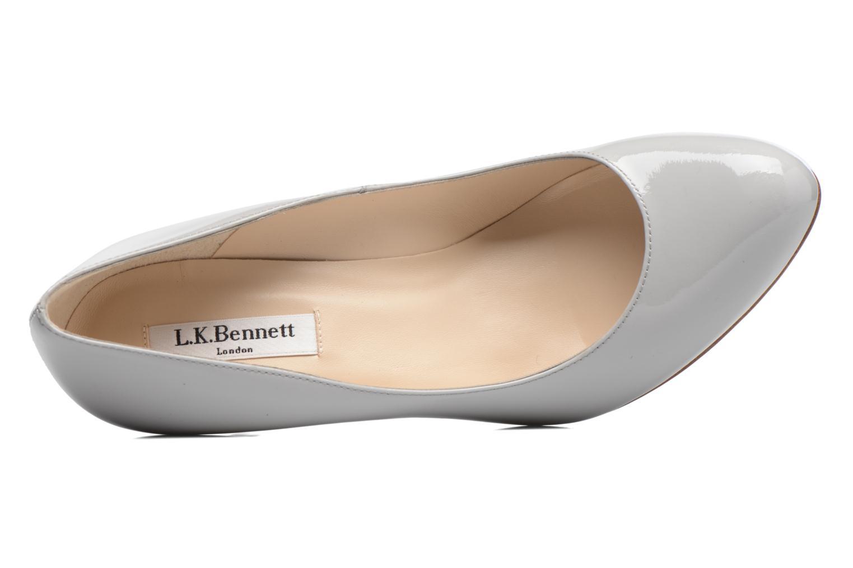 Zapatos de tacón L.K. Bennett Stila Gris vista lateral izquierda