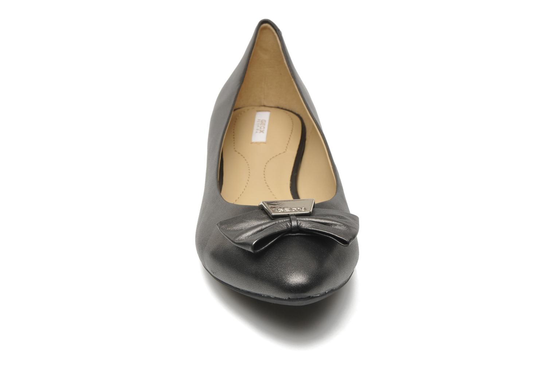 Ballerines Geox D Leslie B Noir vue portées chaussures