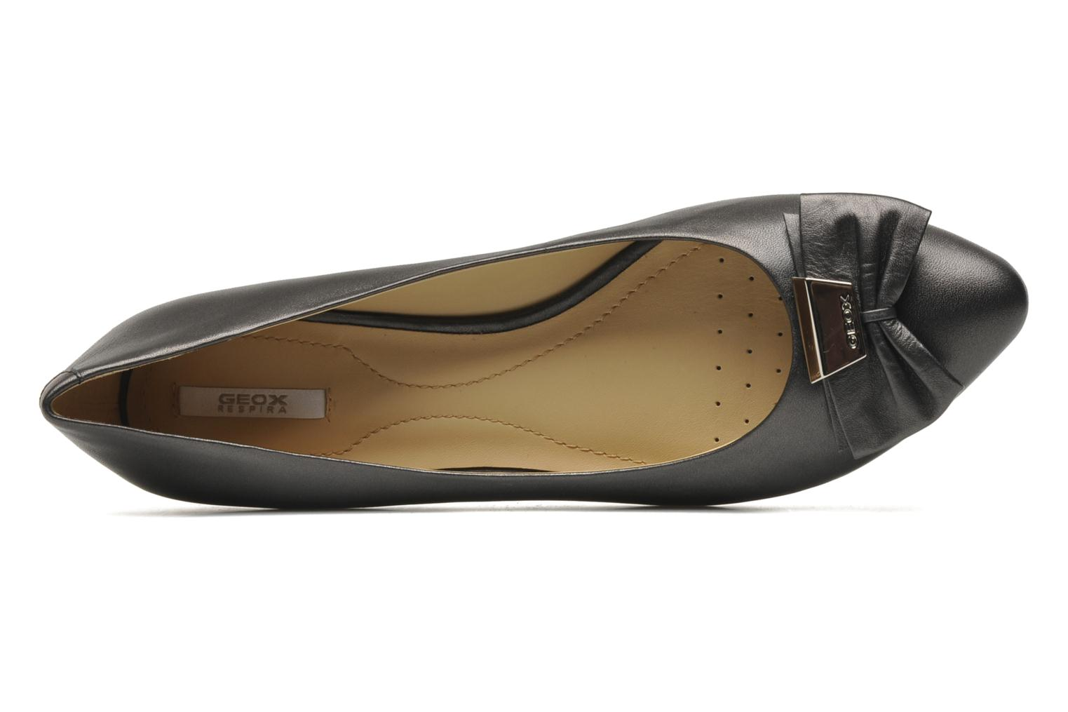 Ballet pumps Geox D Leslie B Black view from the left