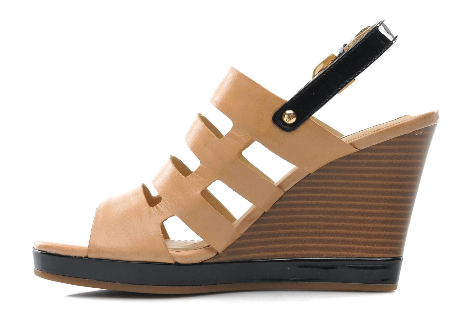 Sandals Geox D Sibilla S. B Beige front view
