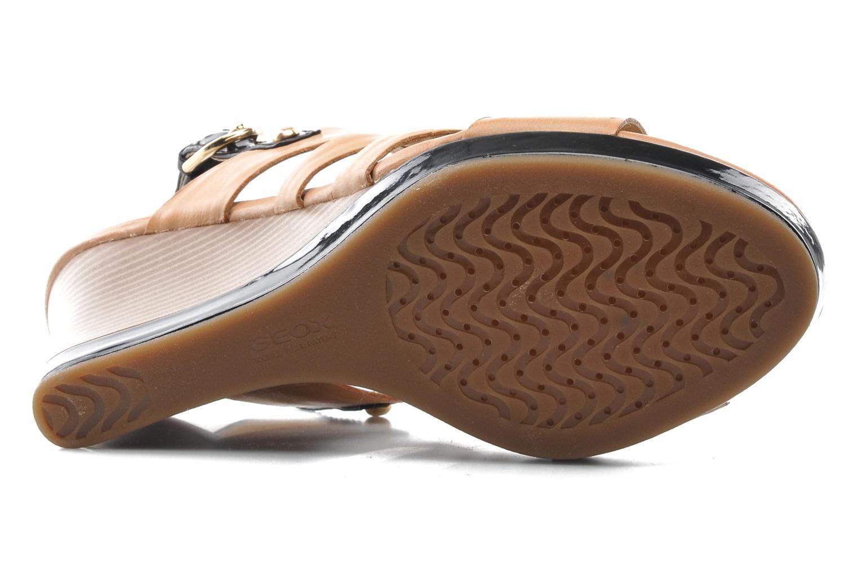 Sandales et nu-pieds Geox D Sibilla S. B Beige vue haut