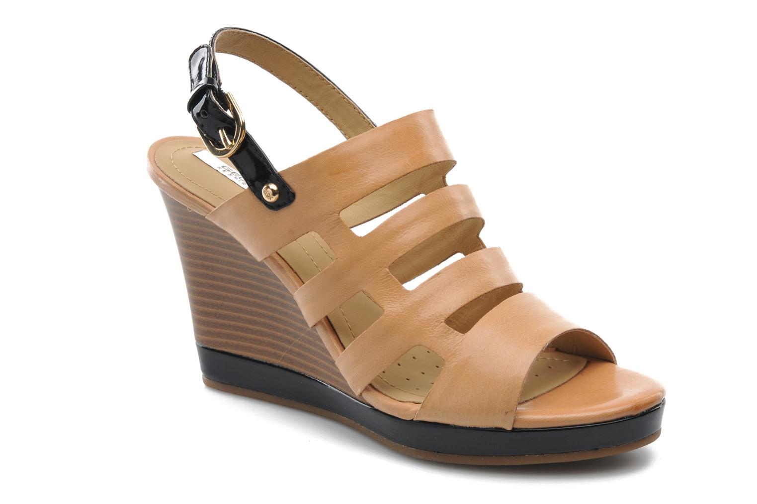 Sandals Geox D Sibilla S. B Beige detailed view/ Pair view