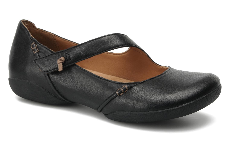 Felicia Plum Black leather