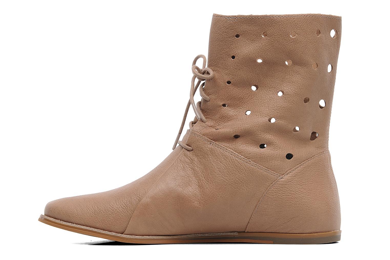 Boots en enkellaarsjes Clarks Maelie Glitter Beige voorkant