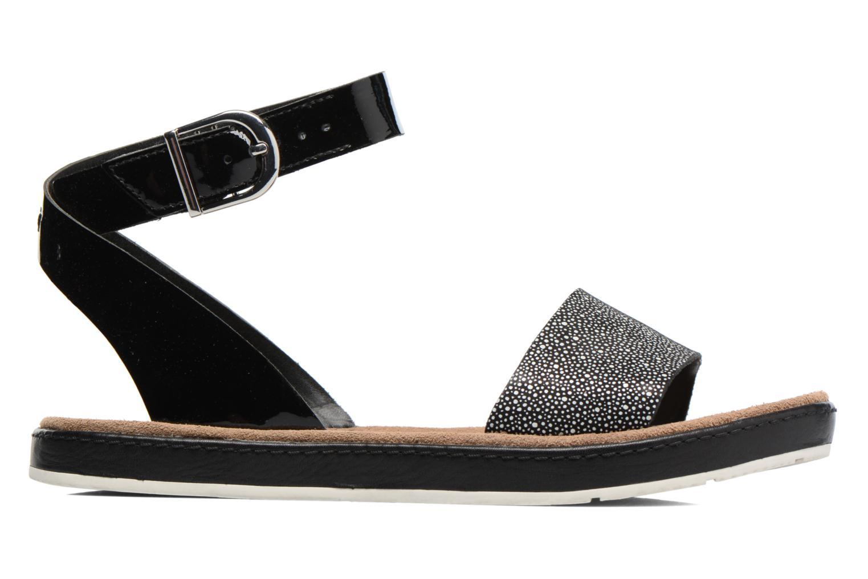 Sandales et nu-pieds Clarks Romantic Moon Noir vue derrière