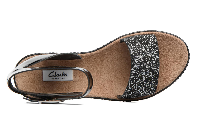 Sandales et nu-pieds Clarks Romantic Moon Noir vue gauche
