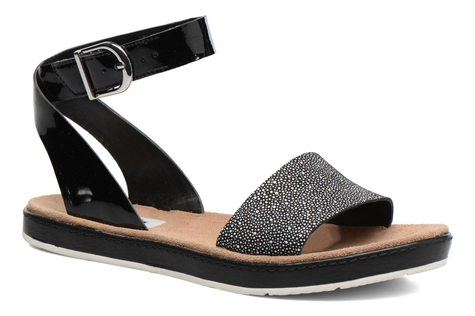 Sandals Clarks Romantic Moon Black detailed view/ Pair view