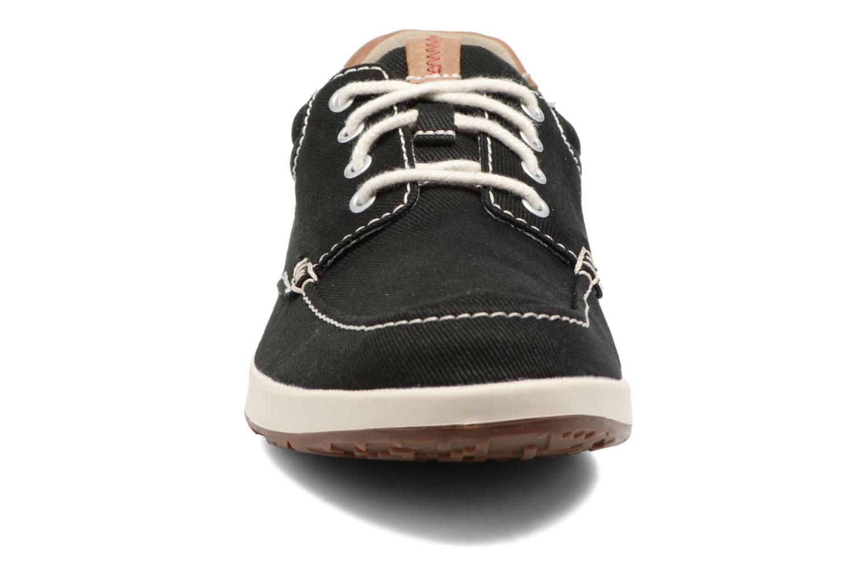 Sneaker Clarks Norwin Vibe schwarz schuhe getragen