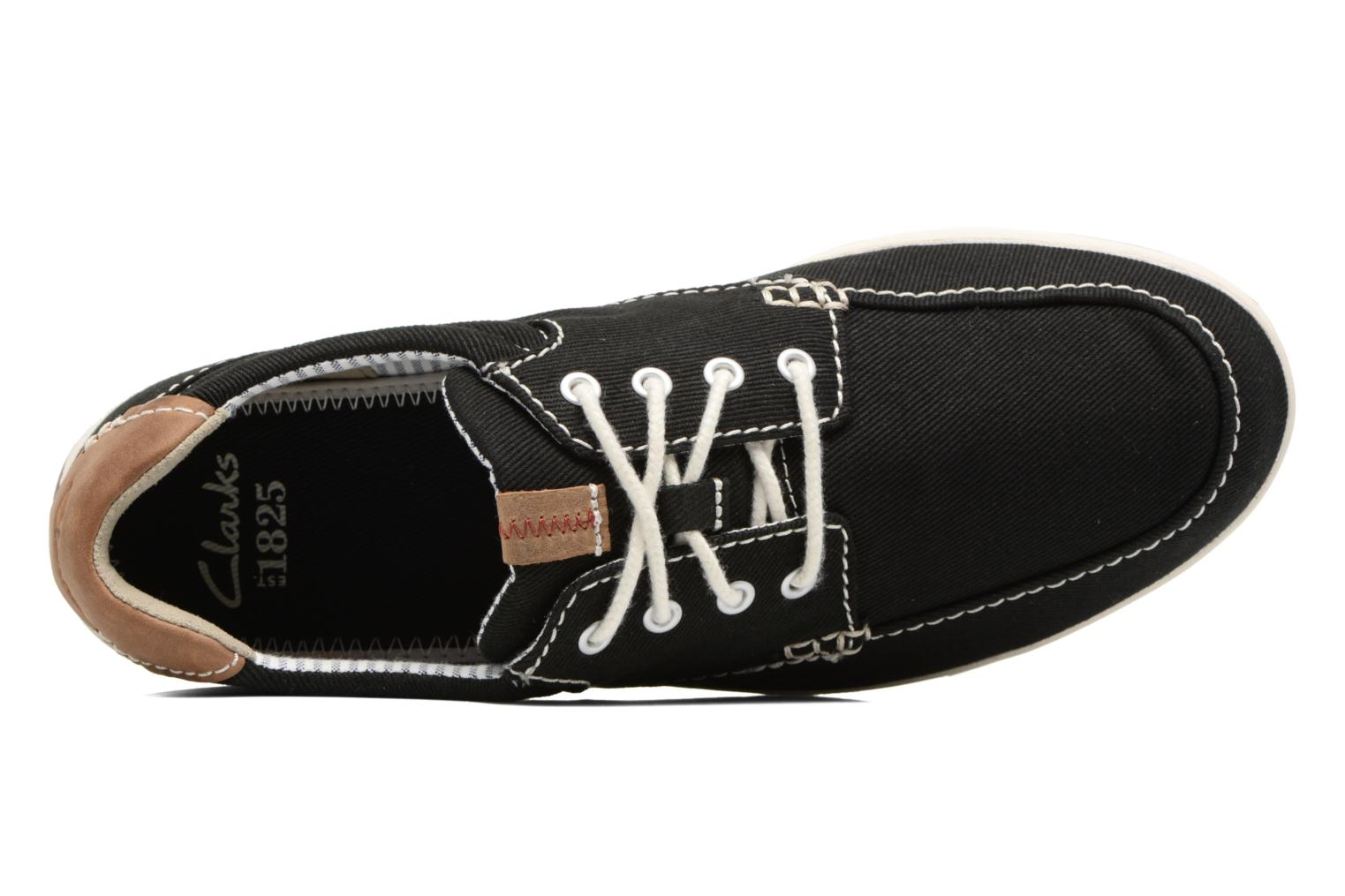 Trainers Clarks Norwin Vibe Black view from the left
