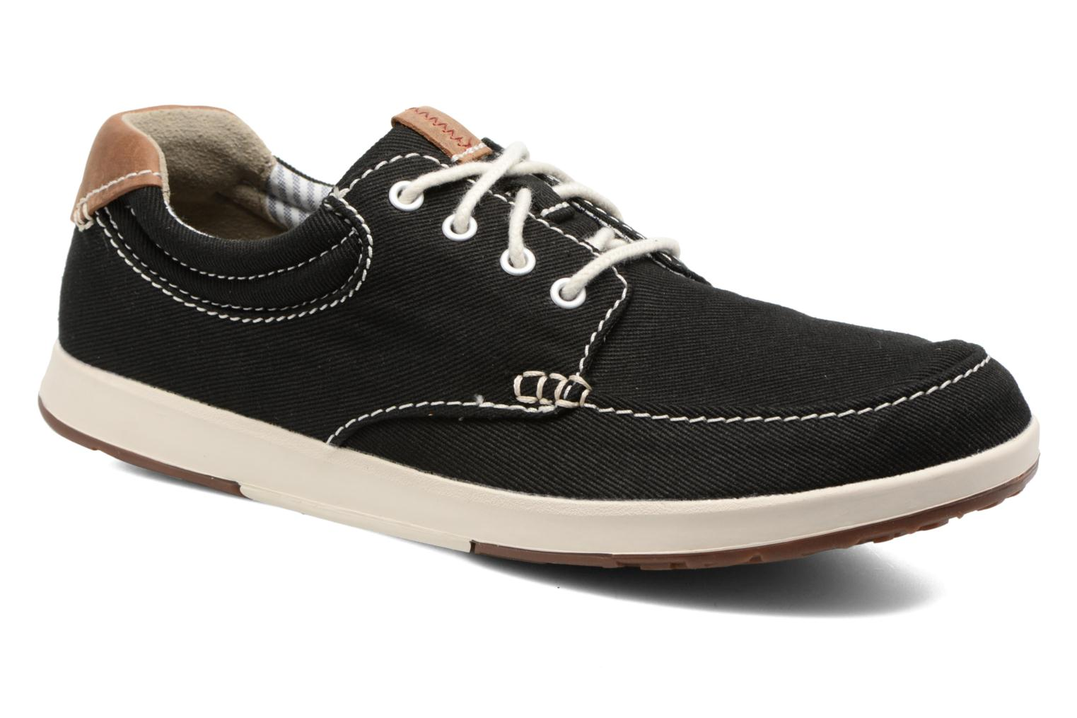 Trainers Clarks Norwin Vibe Black detailed view/ Pair view