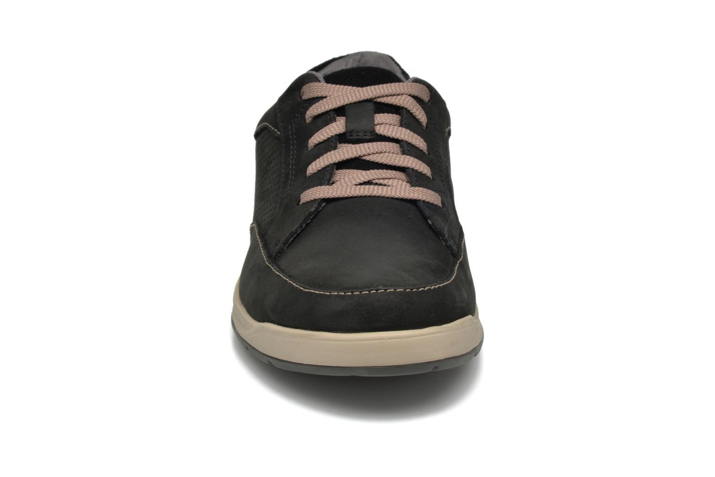 Baskets Clarks Unstructured Stafford Park5 Noir vue portées chaussures