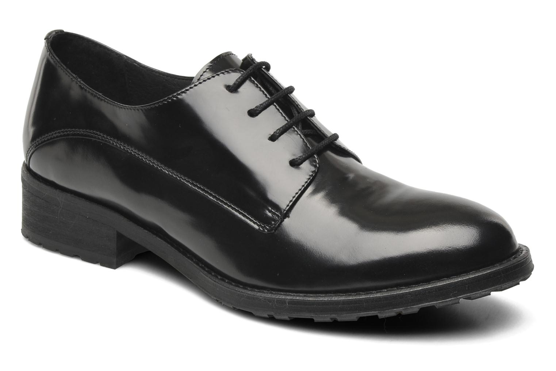 Chaussures à lacets Georgia Rose Tablée Noir vue détail/paire
