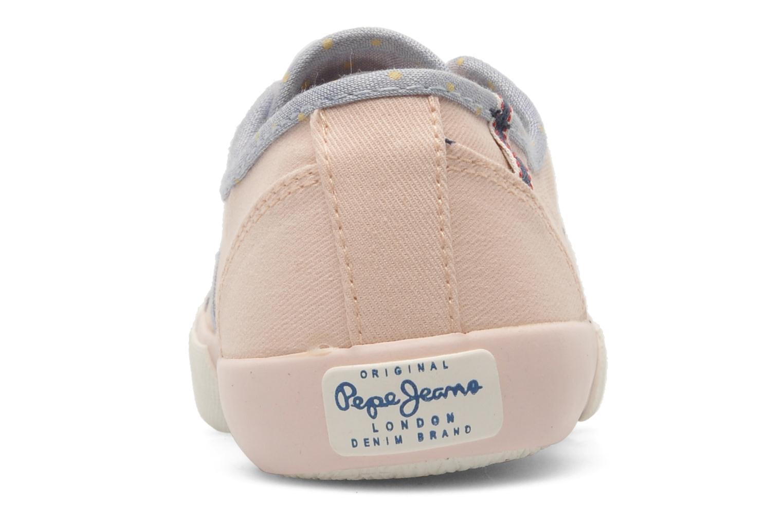 Baskets Pepe jeans BAKER Rose vue droite