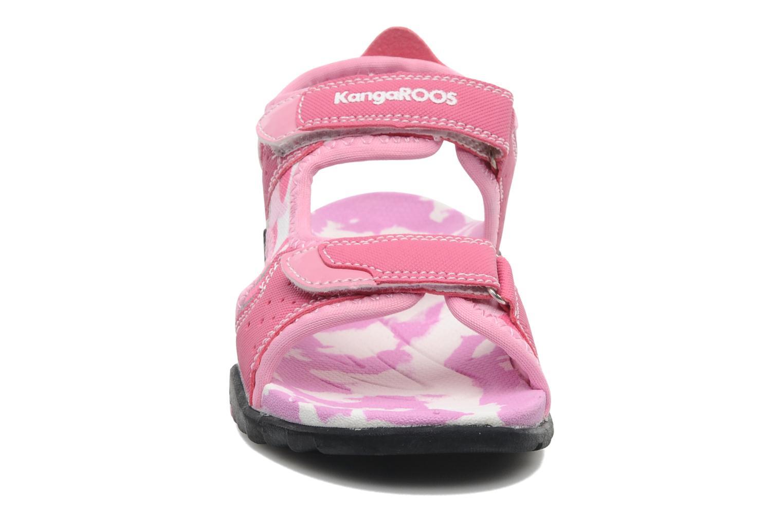 Sandales et nu-pieds Kangaroos Camo Sinc Rose vue portées chaussures