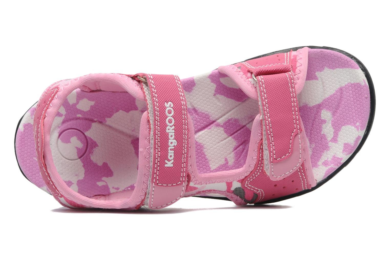 Sandalen Kangaroos Camo Sinc rosa ansicht von links