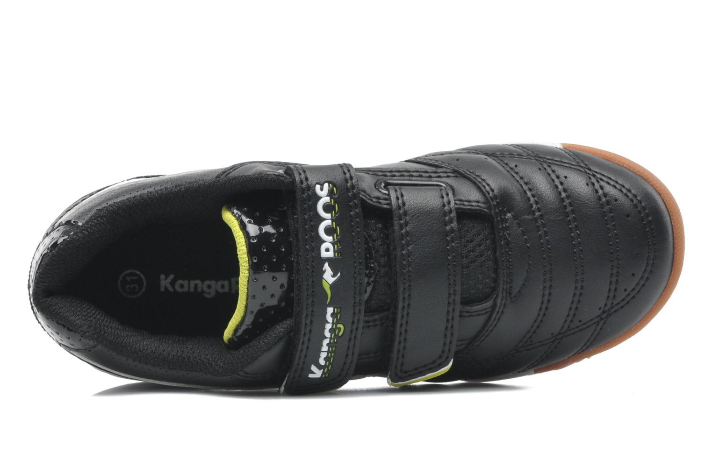 Sneaker Kangaroos Power Court schwarz ansicht von links