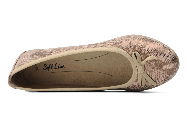 Ballerines Jana shoes Sogemmi Beige vue gauche