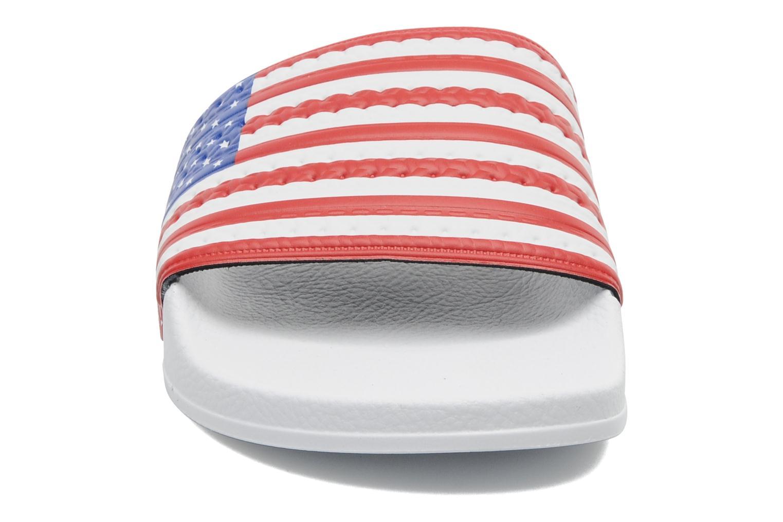Sandalen Adidas Originals Adilette Flags mehrfarbig schuhe getragen