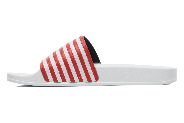 Adilette Flags Running White Ftw / Collegiate Royal / Collegiate Red