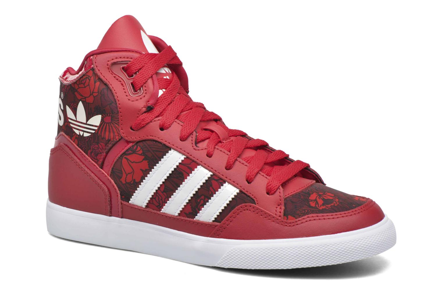Baskets Adidas Originals Extaball W Rouge vue détail/paire