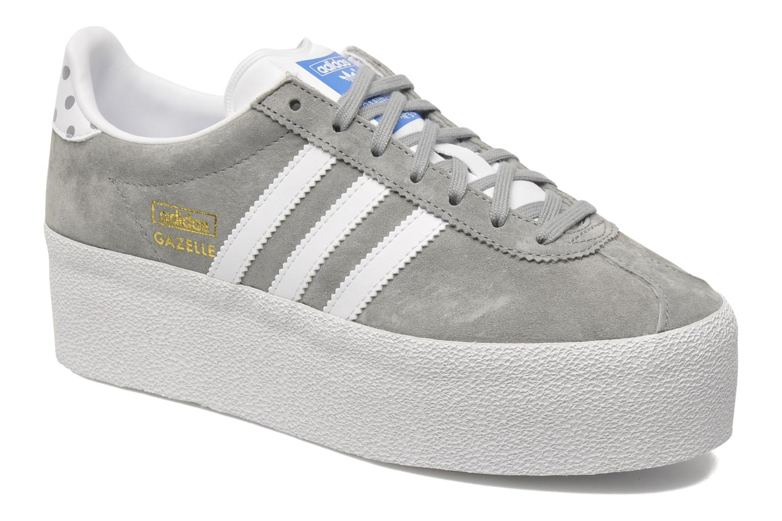 Baskets Adidas Originals Gazelle Og Platform Up Ef W Gris vue détail/paire