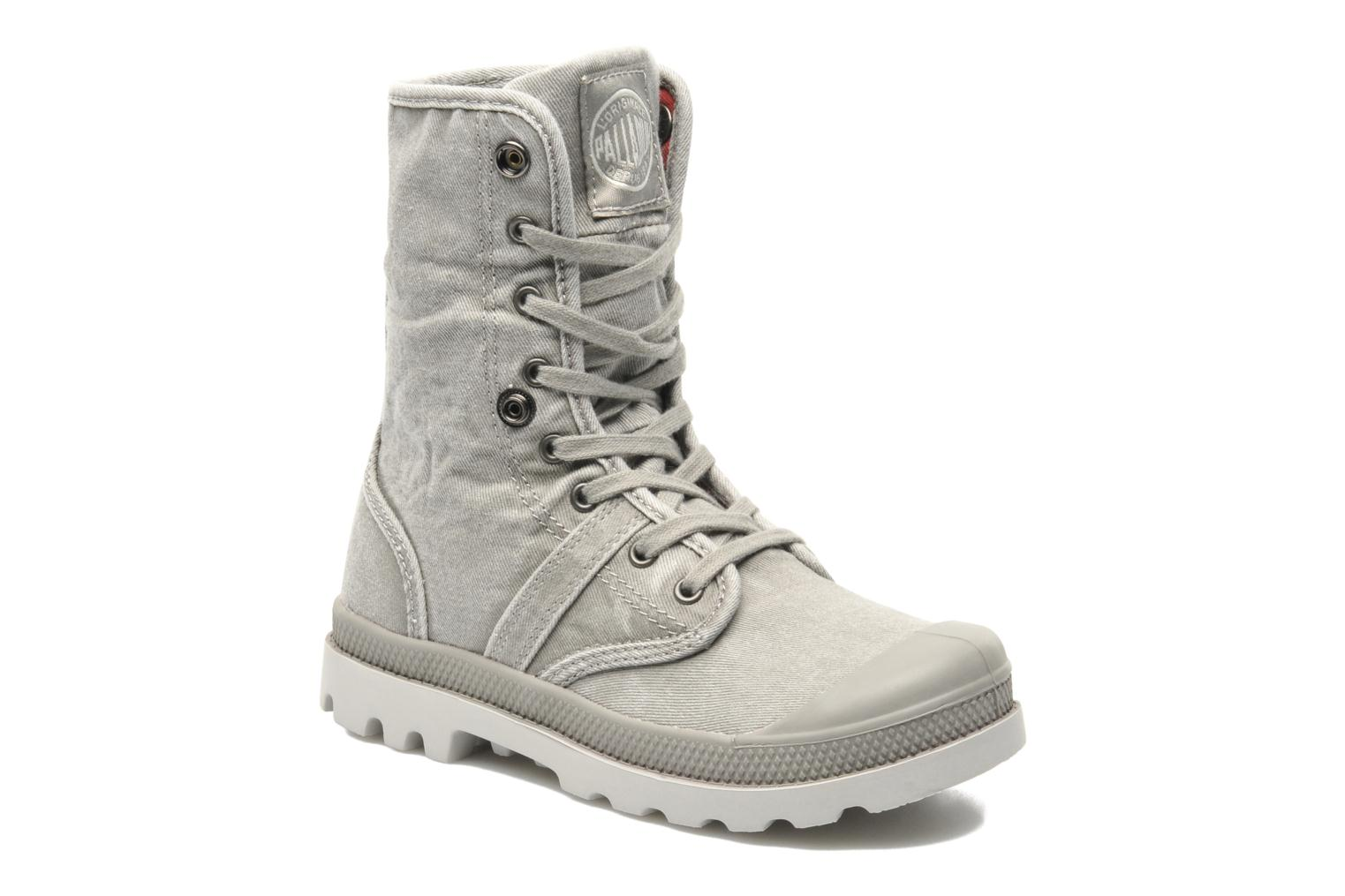 Bottines et boots Palladium Baggy Kid Flag Gris vue 3/4