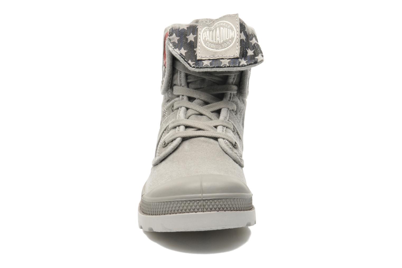 Stiefeletten & Boots Palladium Baggy Kid Flag grau schuhe getragen