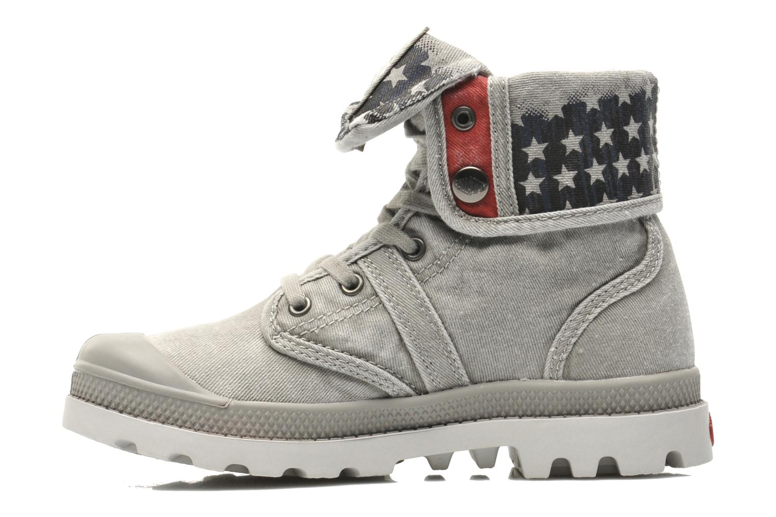 Bottines et boots Palladium Baggy Kid Flag Gris vue face