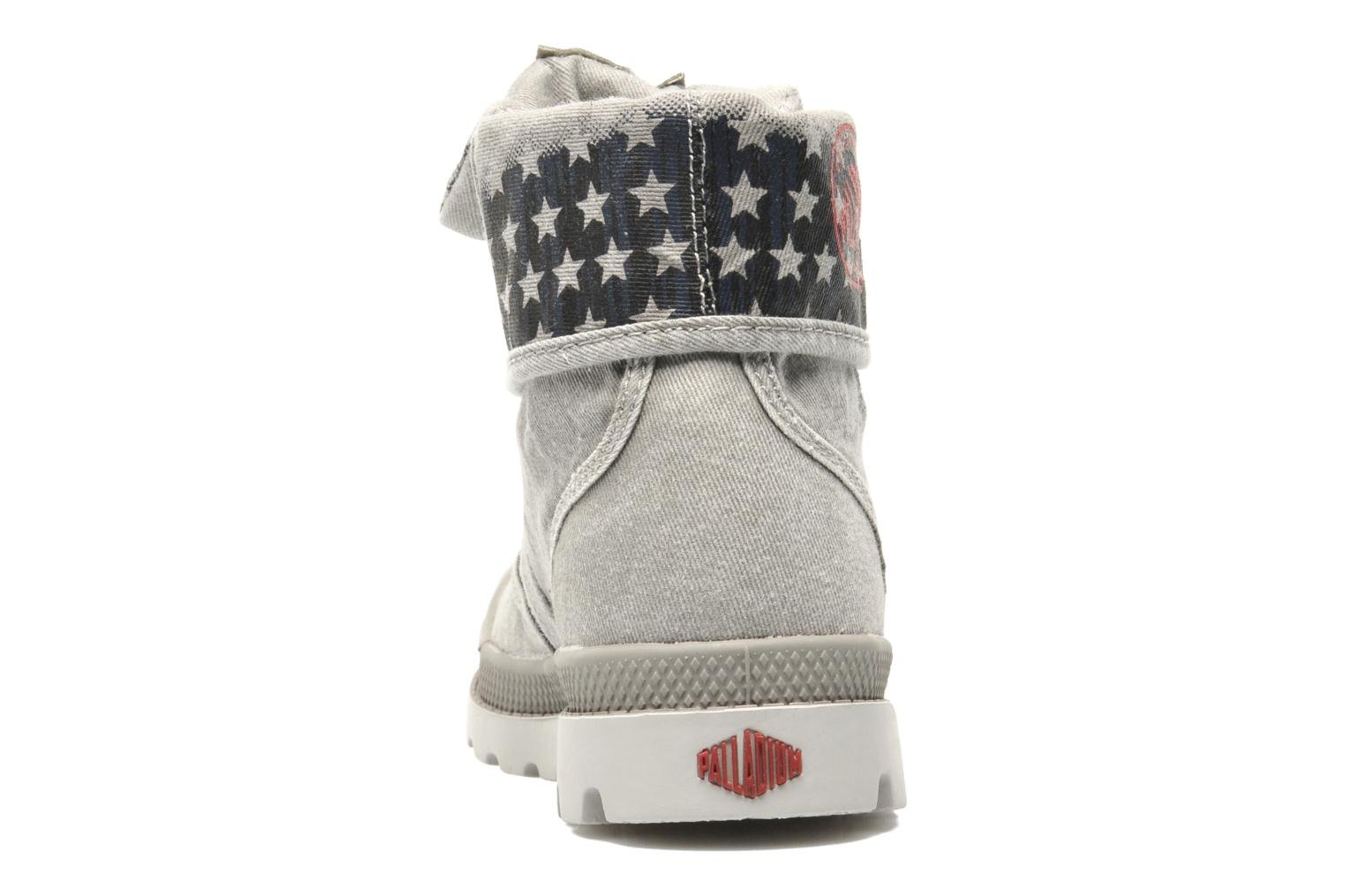 Bottines et boots Palladium Baggy Kid Flag Gris vue droite