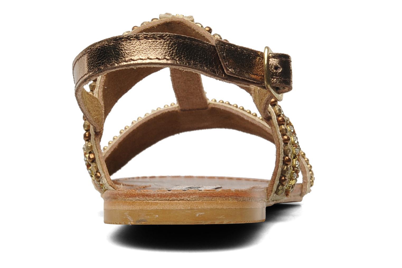 Sandales et nu-pieds Steve Madden Dubai Or et bronze vue droite